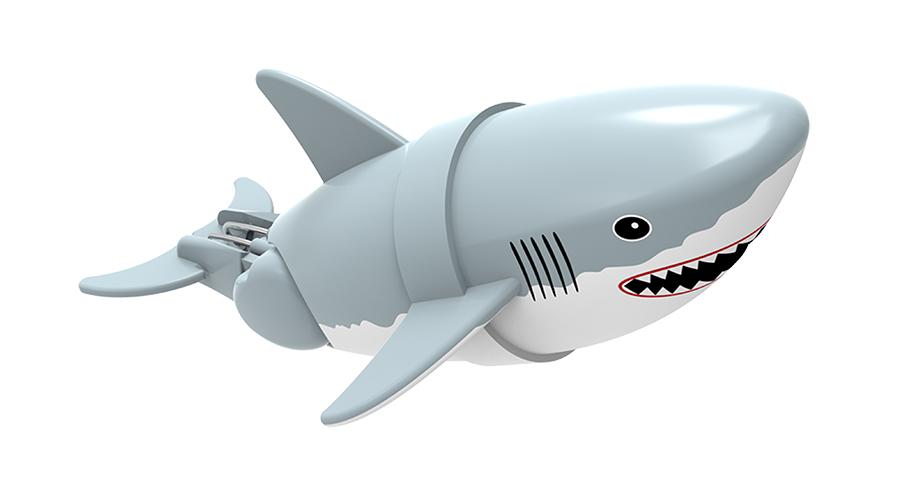 Игрушка для ванны Renwood Акула-акробат Джабон, цвет: серый, белый цена