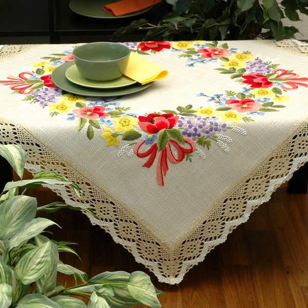 """Набор для вышивания скатерти Schaefer"""", гладь, 100 х 100 см 6655/395"""