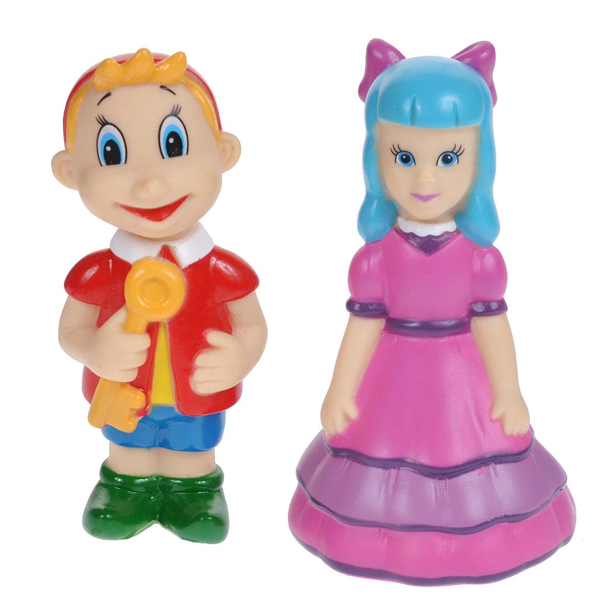 Набор игрушек для ванны Играем вместе Буратино и Мальвина, 2 шт игрушки для ванны играем вместе набор игрушек для ванны играем вместе