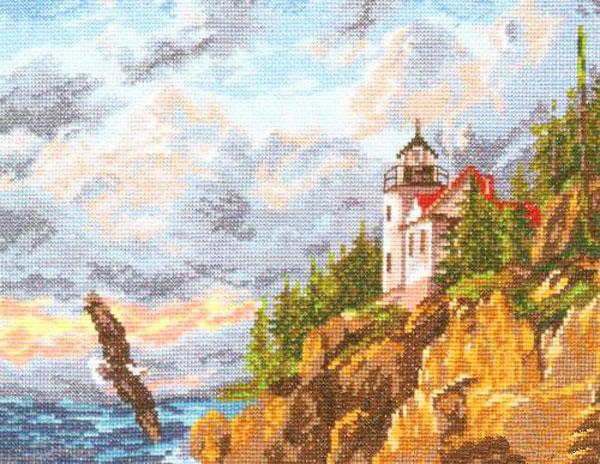 Набор для вышивания крестом Парящий орел, 32 см х 24 см. 661050 набор для вышивания крестом хрустальная бабочка 31 см х 40 см