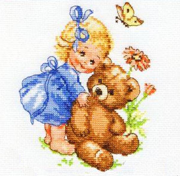 Набор для вышивания крестом Алиса Машенька, 13 х 15 см набор для вышивания крестом пейзаж в овале 13 х 15 см с 091