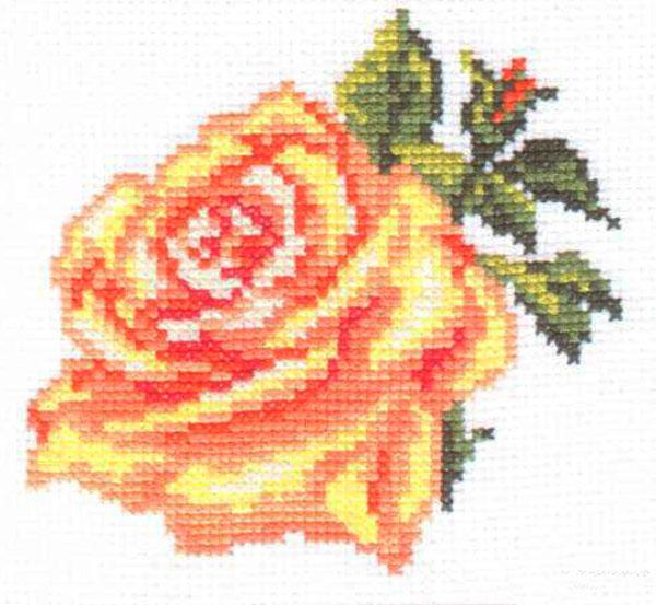 Набор для вышивания крестом Алиса Роза, 10 см х 10 см цена