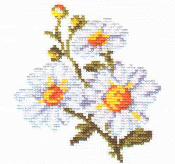 Набор для вышивания крестом Алиса Ромашки, 10 х 11 см бра crystal lux palio ap1