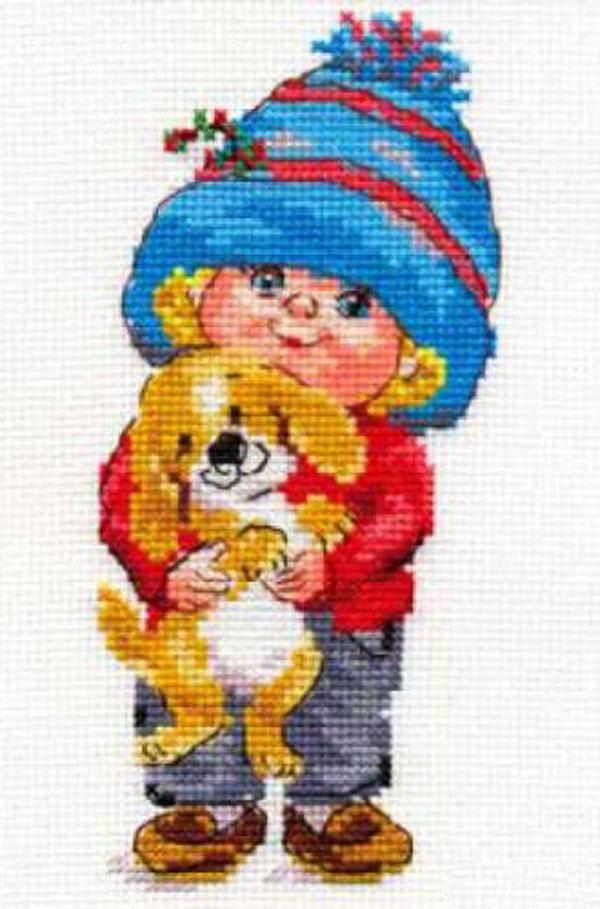 Набор для вышивания крестом Сашенька, 8 х 16 см 661110 набор для вышивания крестом кларт лицо птицы 8 x 13 см