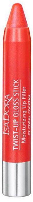 Isa Dora Блеск-карандаш для губ Twist-up Gloss Stick, тон №07 Coral Cocktail, 2,7 г цена