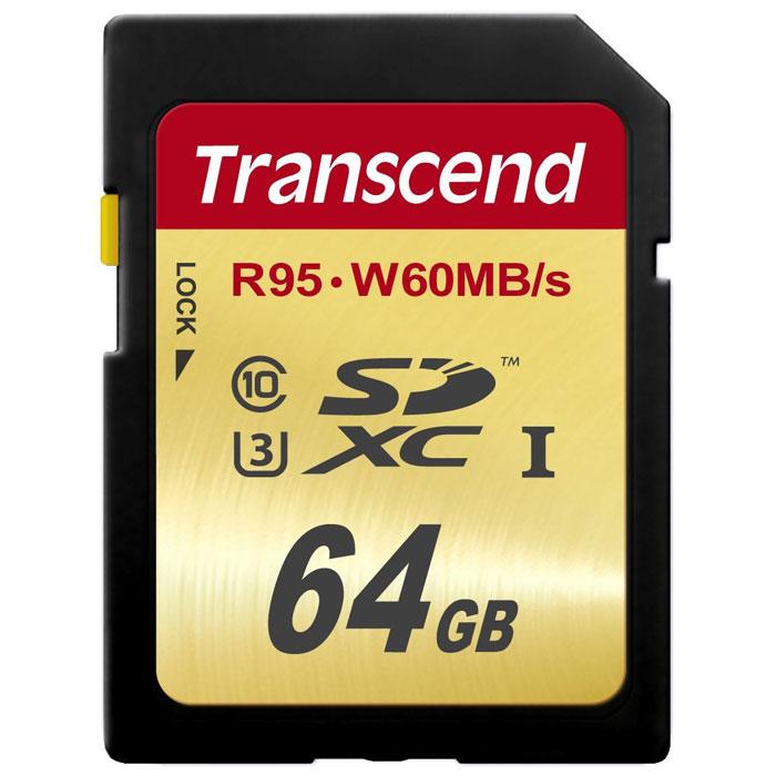 Фото - Transcend SDXC Class 10 UHS-I U3 64GB карта памяти видео