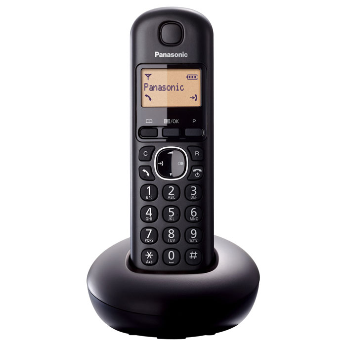 Радиотелефон Panasonic KX-TGB210RUB, черный panasonic kx tg1611rur dect phone digital cordless telephone wireless phone system home telephone