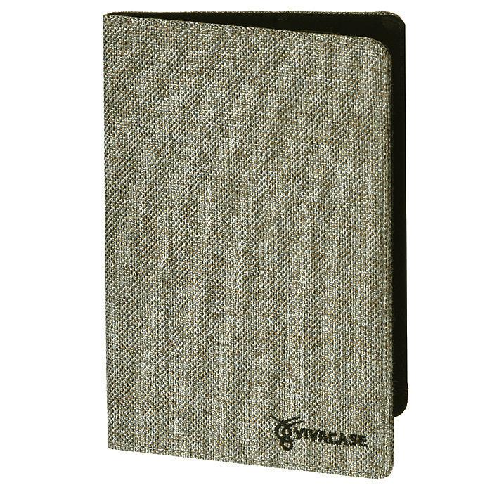 """Vivacase Jacquard универсальный чехол-обложка для планшетов 7"""", Gray (VUC-CJ007-gr)"""