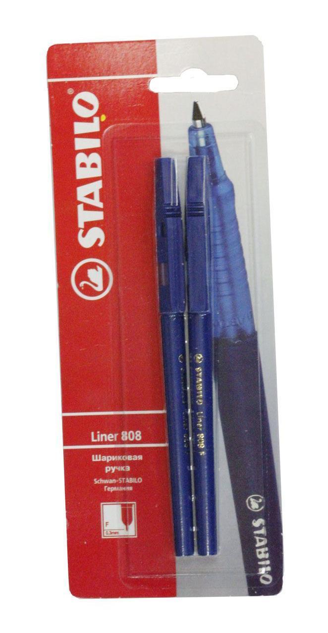 Набор шариковых ручек Stabilo Liner 808, 2 шт набор шариковых ручек мини stabilo ghost 3 шт
