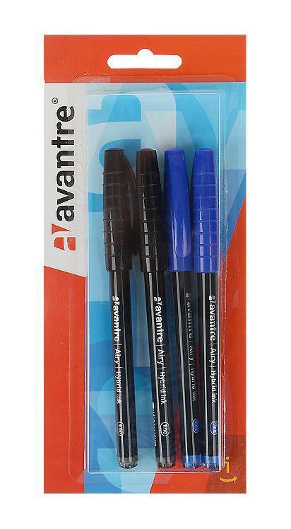 Набор шариковых ручек Avantre Airy, цвет: синий, черный, 4 шт набор шариковых ручек avantre airy цвет синий черный 4 шт