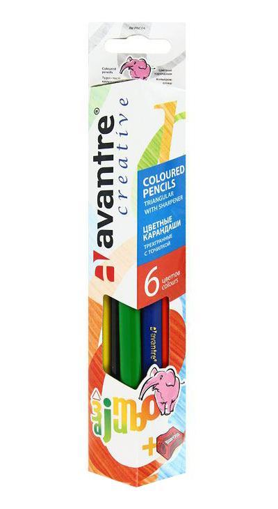 "Цветные карандаши ""Jumbo"", 6 цветов"