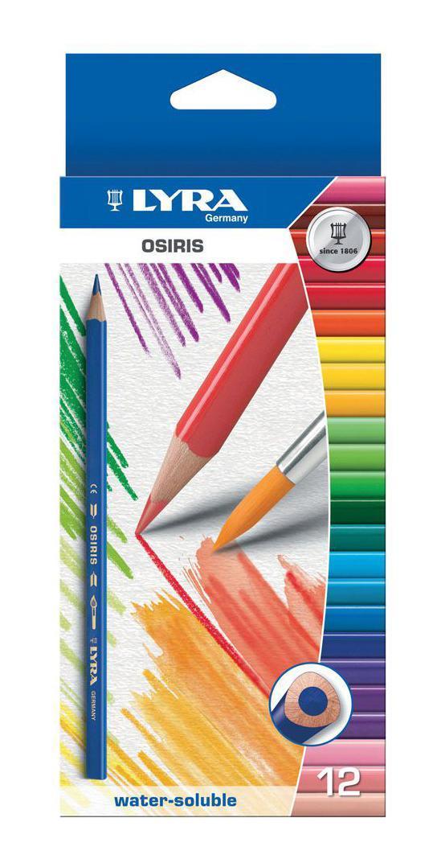 Цветные карандаши Lyra Osiris Aquarell, акварельные, 12 цветов цена