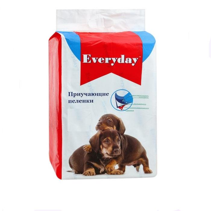 """Пеленки приучающие для животных """"Everyday"""", гелевые, 60 см х 45 см, 10 шт"""
