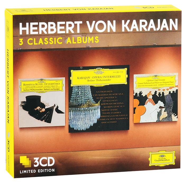 Berliner Philharmoniker,Герберт Караян Herbert Von Karajan. 3 Classic Albums. Limiten Edition (3 CD) хокан харденбергер hakan hardenberger 3 classic albums 3 cd