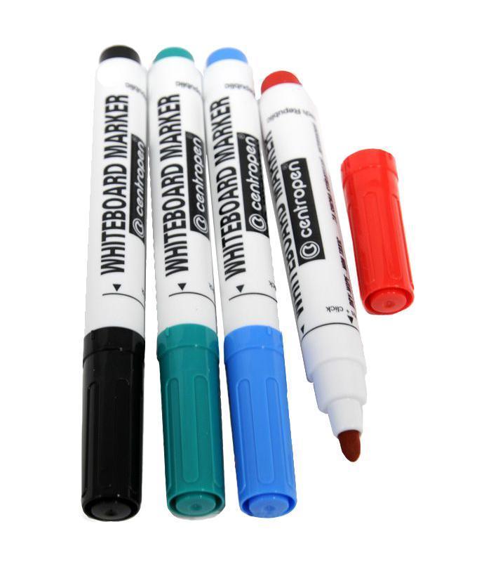 Набор маркеров Centropen для доски, 4 цвета маркер для доски centropen 8569 1ч 4 6 мм черный 8569 1ч