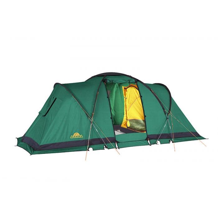 Палатка Alexika Indiana 4 Green9165.4401Данная модель кемпинговой палатки - одна из самых популярных в последнее время среди туристов. Ей отдают предпочтение как семьи, отправляющиеся на природу, так и молодежные компании. Площадь палатки позволяет свободно разместиться в ней 4 людям, обеспечивая им комфортный отдых. Кемпинговая палатка ALEXIKA INDIANA 4 состоит из двух двухместных спален. В соединяющем две спальни помещении может полноценно стоя расположиться взрослый человек, так как его высота в этом месте достигает 180 см. Эта модель палатки дает возможность нескольких вариантов использования внутреннего пространства, так как спальни могут подвешиваться изнутри. Вы можете соорудить в ней как две спальни, так и одну, отпустив оставшееся пространство под столовую или склад. Палатку INDIANA 4 удастся установить даже в ветреную и дождливую погоду, так как ее монтаж начинается с внешнего тента. Еще одно преимущество модели – компактность в сложенном виде. Палатка оснащена всеми необходимыми элементами кемпингового жилища. В ней предусмотрена противомоскитная сетка, система фильтрации, карманы, петля для фонарика. Благодаря герметизации швов внутрь палатки не попадет ни капли влаги. Кроме этого палатка отличается хорошей ветроустойчивостью. В комплекте предусмотрен съемный пол для тамбурной части.