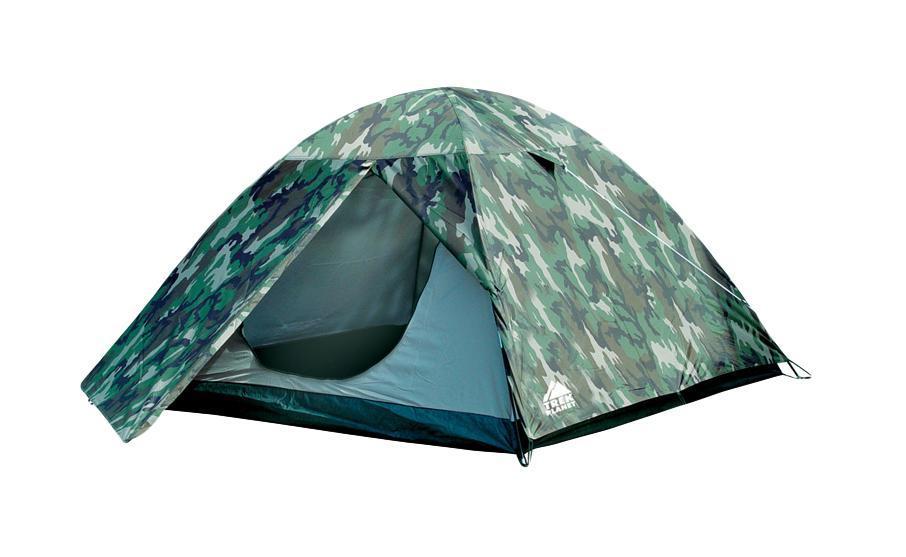 """Палатка трехместная TREK PLANET """"Alaska 3"""", цвет: камуфляж"""