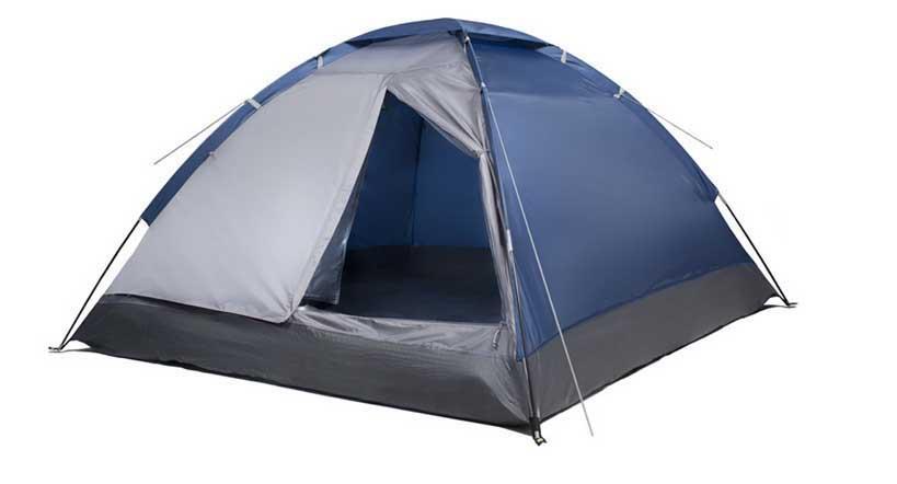 "Палатка четырехместная Trek Planet ""Lite Dome 4"", цвет: синий, серый"