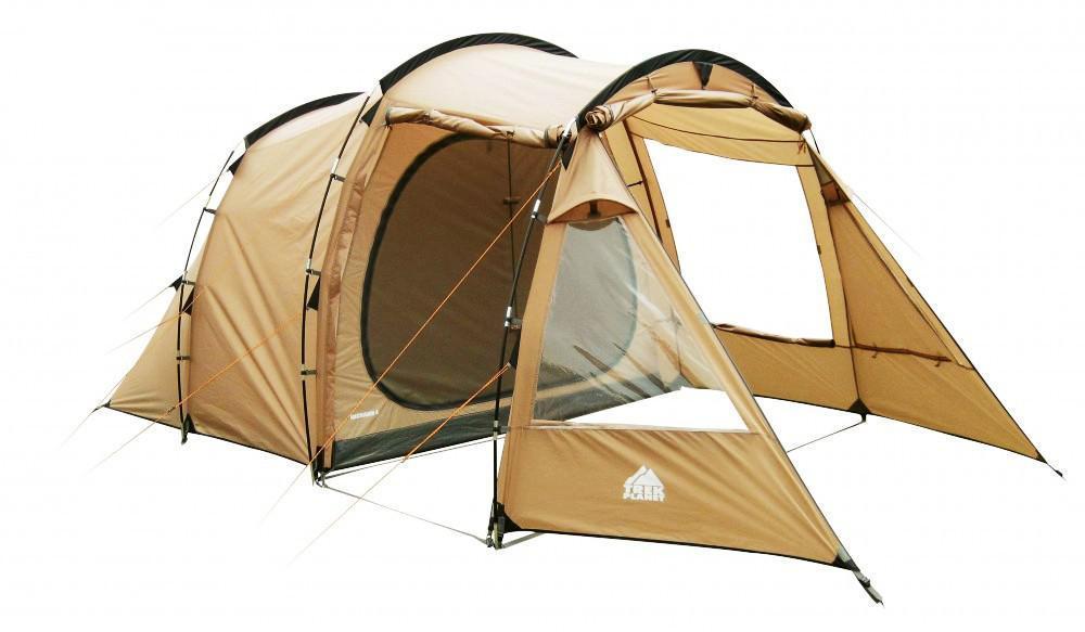 """Палатка четырехместная TREK PLANET """"Michigan 4"""", цвет: песочная"""
