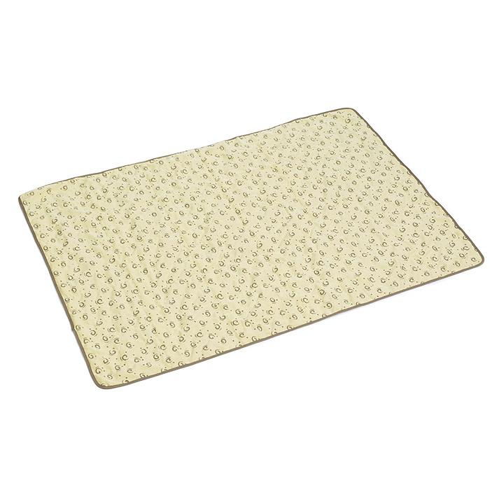 Коврик для собак I.P.T.S., охлаждающий в жару, цвет: бежевый, 100 см х 72 см х 1 см коврик ferplast охлаждающий