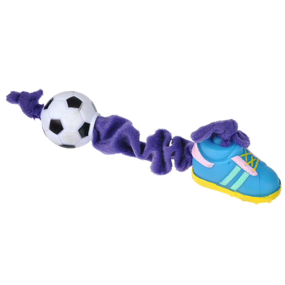 """Игрушка для собак I.P.T.S. """"Ботинок и мяч"""", цвет: в ассортименте"""