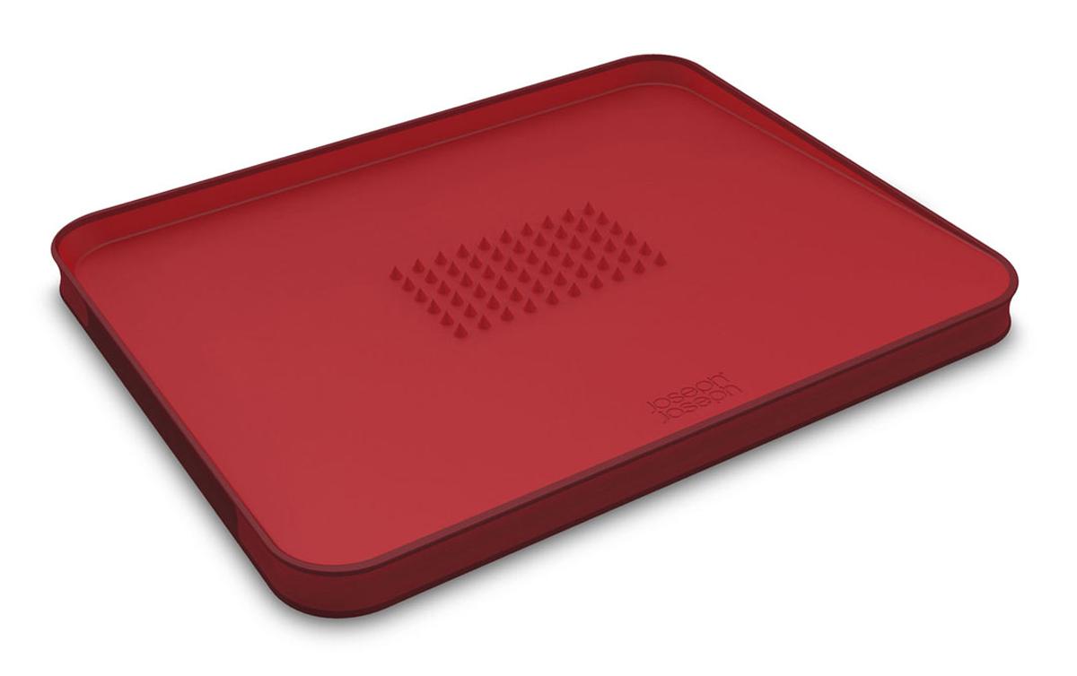 Доска разделочная Joseph Joseph Cut&Carve, для мяса, цвет: красный, 37 х 29 см разделочная доска для мяса joseph joseph cut