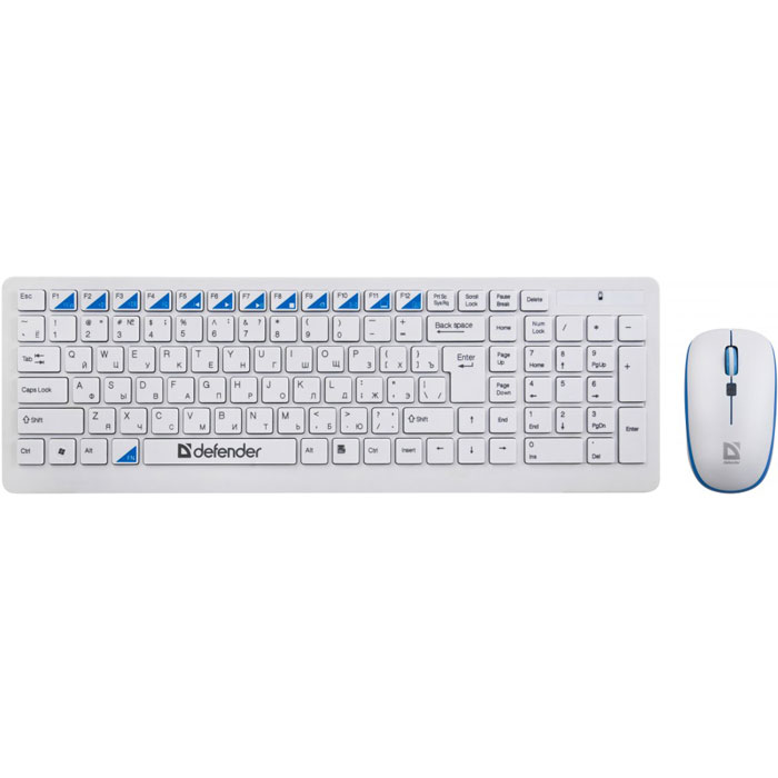 Комплект мышь + клавиатура Defender Skyline 895 Nano, White