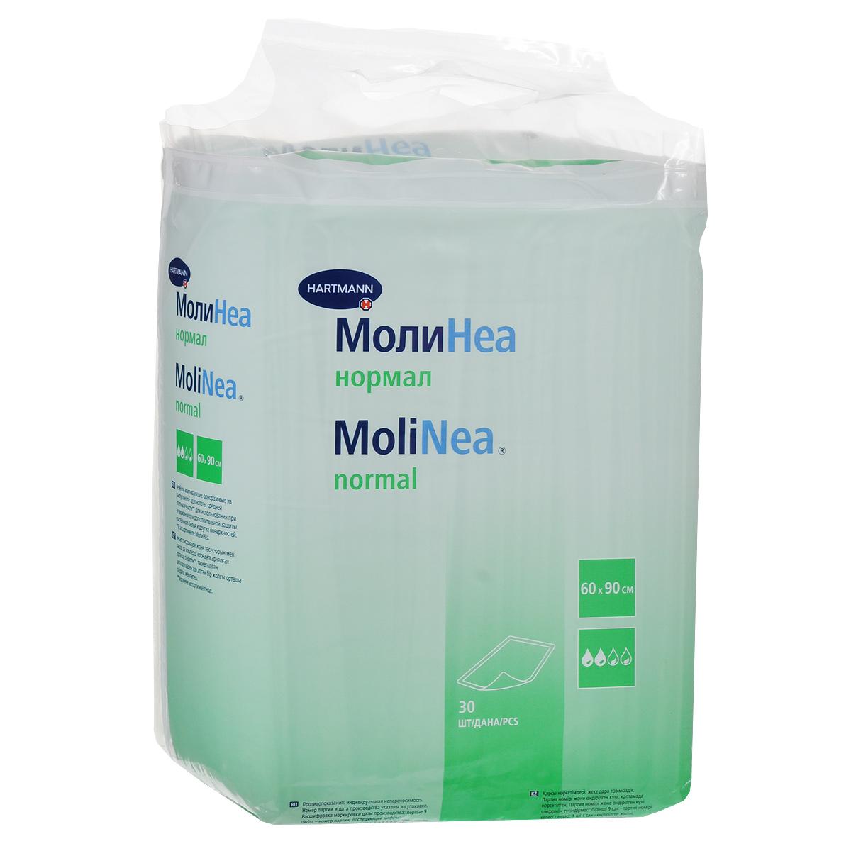 одноразовые пеленки Одноразовые впитывающие пеленки Molinea (Молинеа) Normal, 60 см х 90 см, 30 шт