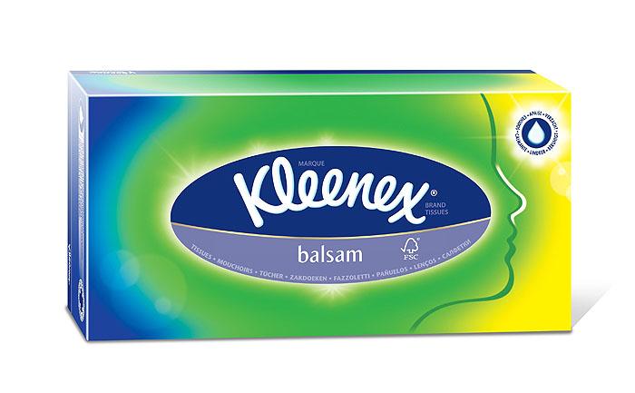 Салфетки Kleenex Balsam, трехслойные, 20 см х 20 см, 72 шт салфетки kleenex family 150 шт