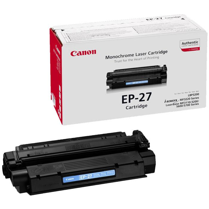 лучшая цена Картридж Canon EP-27, черный, для лазерного принтера, оригинал