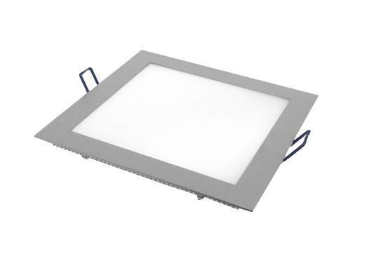 Встраиваемый светильник ESTARES светодиодный тонкий квадрат 10W 6500 800lm холодный белый 200*200mm - цвет серый встраиваемый светодиодный ультратонкий светильник estares dl 7 white тёплый белый