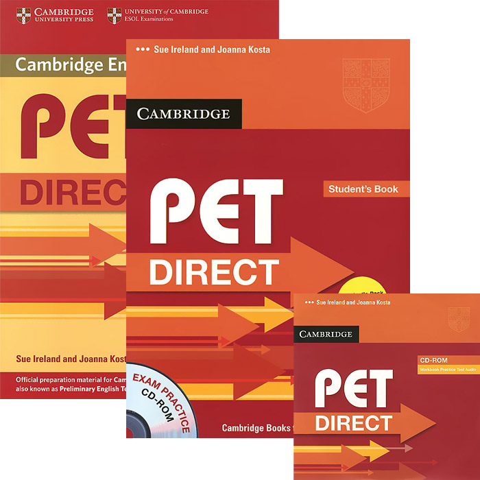 PET Direct: Student's Pack (комплект из 2 книг + CD-ROM) longman introductory course for the toefl test the paper test student book and cd rom with answer key