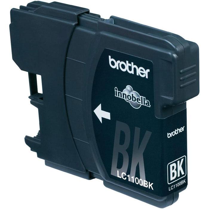Картридж Brother LC1100BK, черный, для струйного принтера картридж для мфу brother lc970y yellow