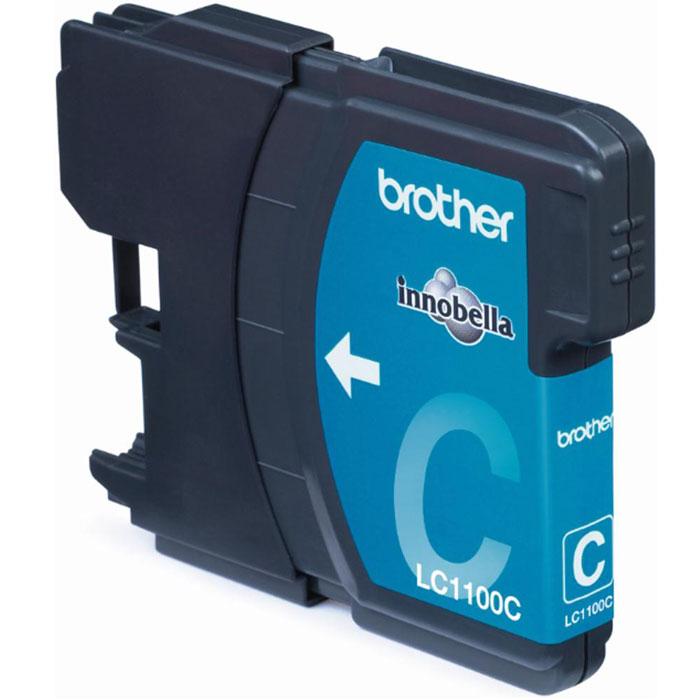 Картридж Brother LC1100C, голубой, для струйного принтера картридж для мфу brother lc970y yellow