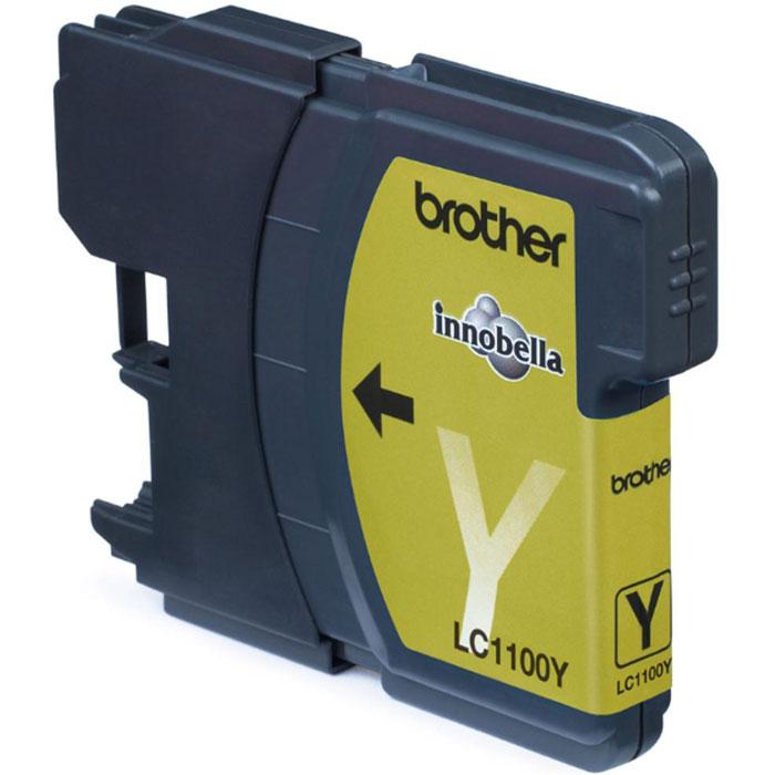 Картридж Brother LC1100Y, желтый, для струйного принтера картридж для мфу brother lc970y yellow