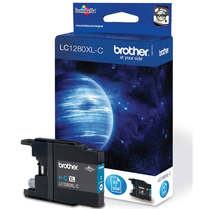 Brother LC1280XLC, Cyan струйный картридж для MFC-J6510DW, MFC-J69010DW brother lc1280xlc голубой