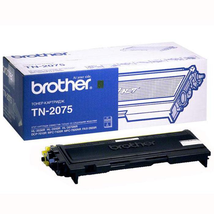 Картридж Brother TN2075, черный, для лазерного принтера brother dr 2075 black