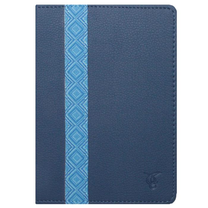 Vivacase Romb кожаный чехол-обложка для PocketBook 640/626/614/624/623, Blue (VPB-P6R02-blue) Уцененный товар (№9)