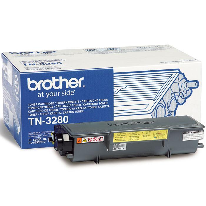 Картридж Brother TN3280, черный, для лазерного принтера nv print tn3280 black тонер картридж для brother hl5340d 5350dn 5370dw 5380dn dcp8085 8070 mfc8370 8880