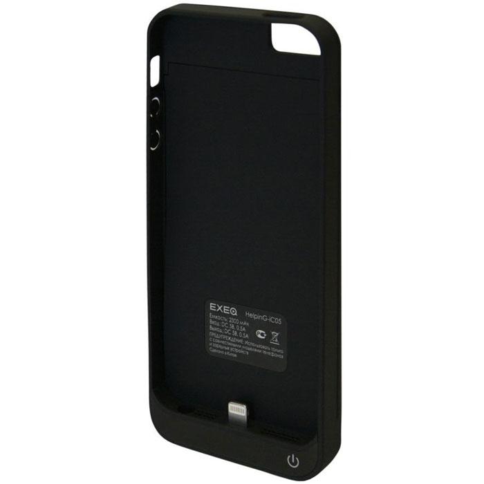 2c6eb4c2be6d4 EXEQ HelpinG-iC05 чехол-аккумулятор для iPhone 5/5s, Black (2300 мАч,  клип-кейс) — купить в интернет-магазине OZON с быстрой доставкой