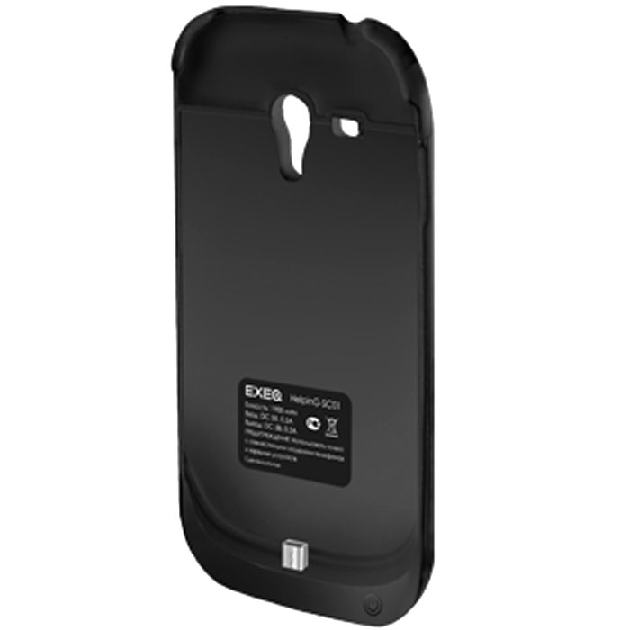 EXEQ HelpinG-SC01 чехол-аккумулятор для Samsung Galaxy S3 mini, Black (1900 мАч, клип-кейс)