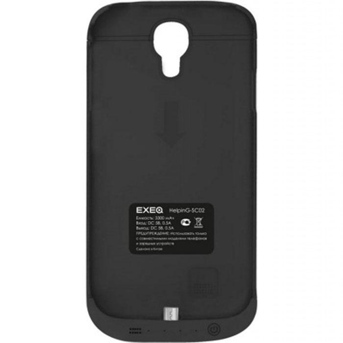 EXEQ HelpinG-SC02 чехол-аккумулятор для Samsung Galaxy S4, Black (3300 мАч, клип-кейс)