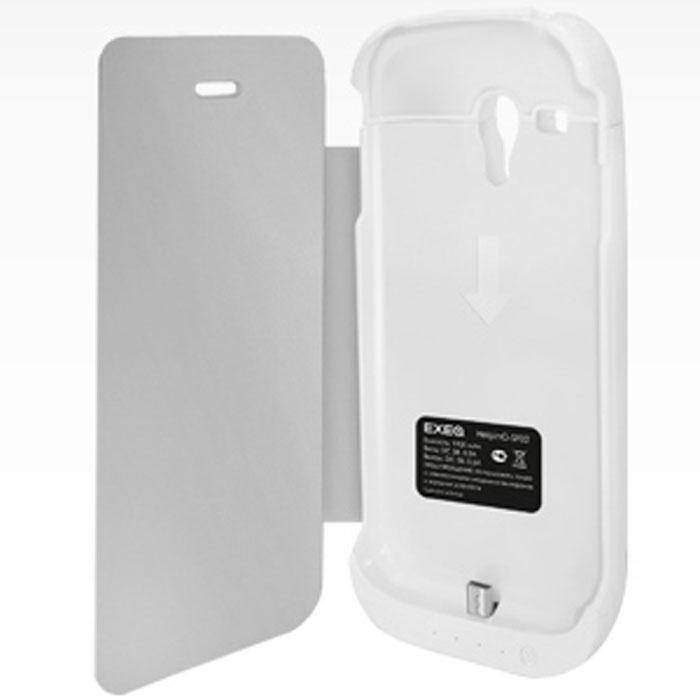 EXEQ HelpinG-SF02 чехол-аккумулятор для Samsung Galaxy S3 mini, White (1900 мАч, флип-кейс)
