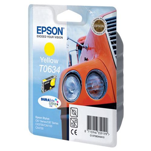 Epson T0634 (C13T06344A10), Yellow картридж для C67/C87/CX3700/CX4100/CX4700 t0631 t0634 refillable ink cartridge for epson stylus c67 c87 cx3700 cx4100 cx4700 printers