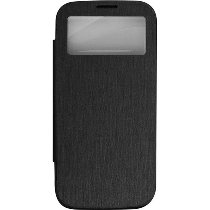 EXEQ HelpinG-SF08 чехол-аккумулятор для Samsung Galaxy S4, Black (2600 мАч, Smart cover, флип-кейс)