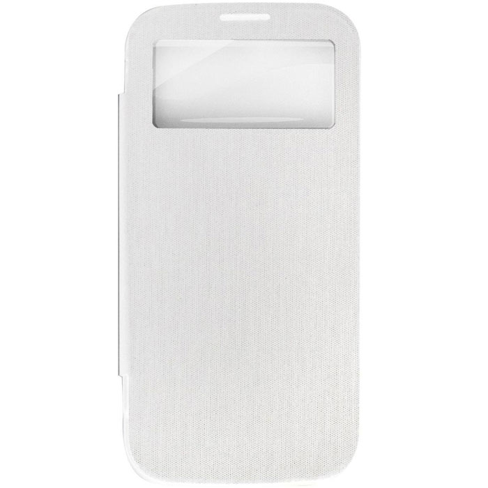 EXEQ HelpinG-SF08 чехол-аккумулятор для Samsung Galaxy S4, White (2600 мАч, Smart cover, флип-кейс)