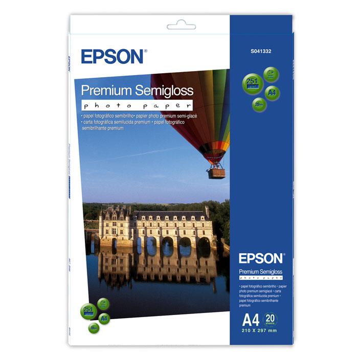 Epson Premium Semiglossy 251/A4/20л, полуглянцевая C13S041332