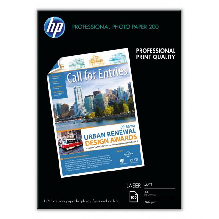 HP 200/A4/100л матовая фотобумага для лазерной печати (Q6550A)