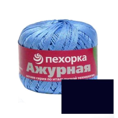Пряжа для вязания Пехорка Ажурная, цвет: темно-синий (04), 280 м, 50 г, 10 шт монгольский верблюд цвет 372 натурально темно серый пехорка пехорка