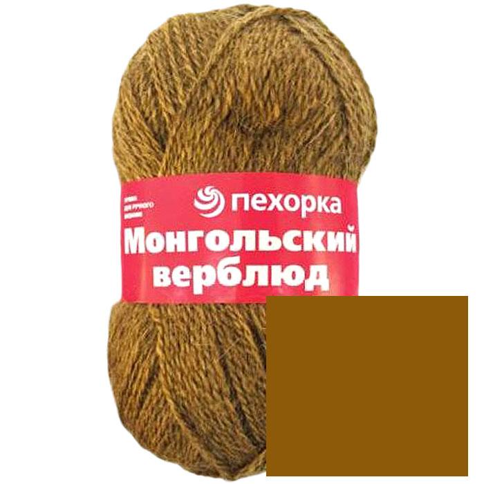 Пряжа для вязания Пехорка Монгольский верблюд, цвет: темно-бежевый (165), 300 м, 100 г, 10 шт монгольский верблюд цвет 372 натурально темно серый пехорка пехорка